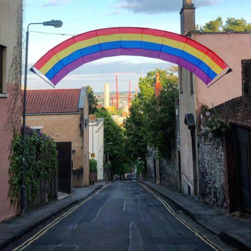 Rainbow on Marlborough Hill